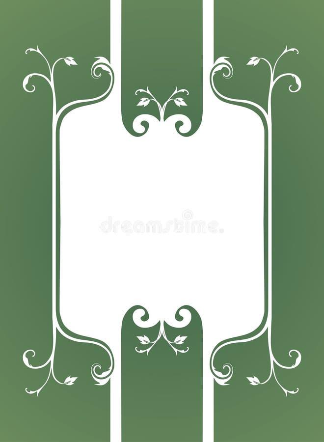 Fond floral de cadre illustration stock