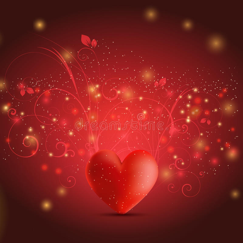 Fond floral de coeur illustration stock