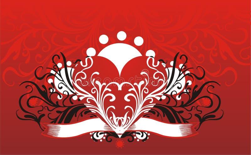 Download Fond floral de coeur illustration de vecteur. Illustration du blanc - 8668176