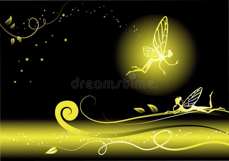 Fond floral de conte de fées. illustration de vecteur