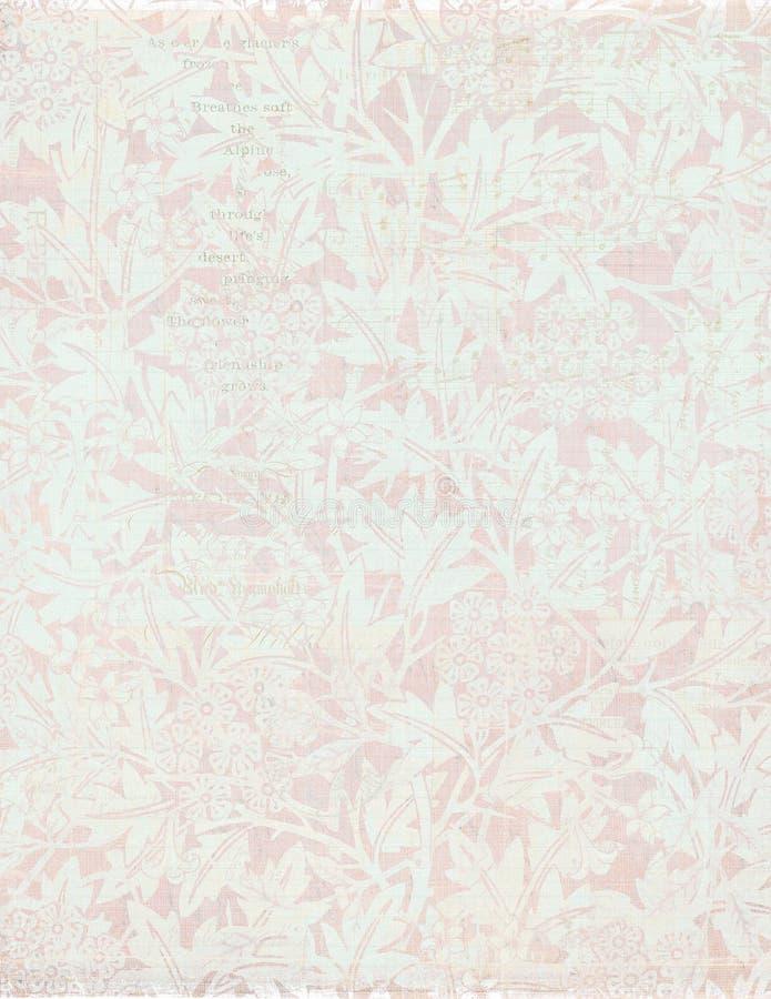 Fond floral de cru élégant minable photos stock