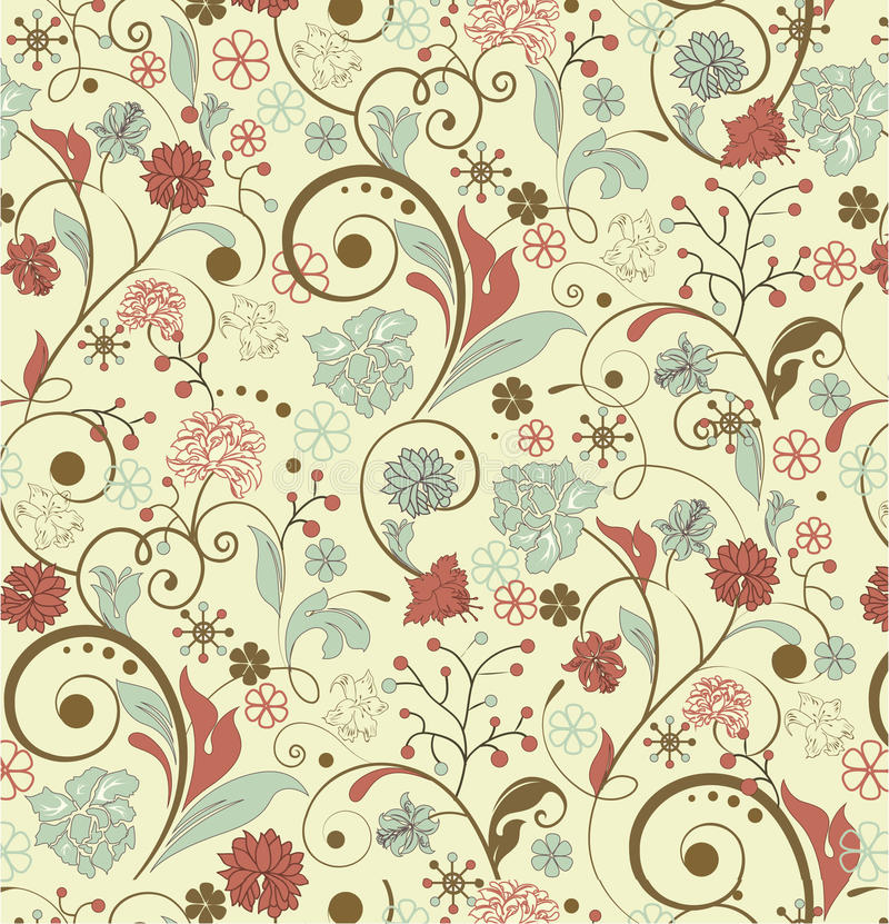 Fond floral de cru illustration stock