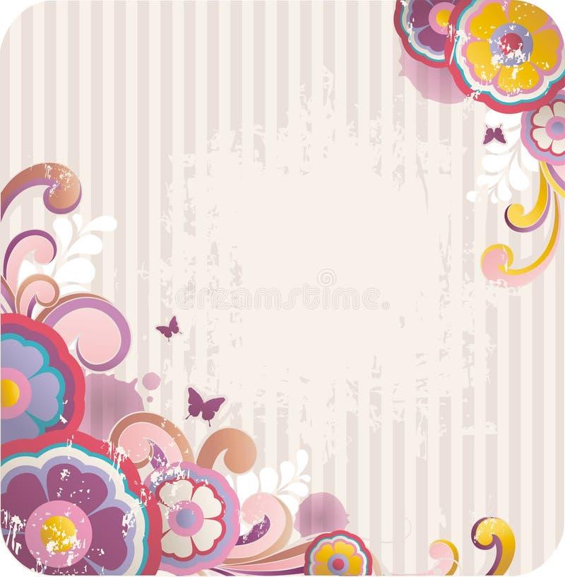 Fond floral de dessin animé illustration de vecteur
