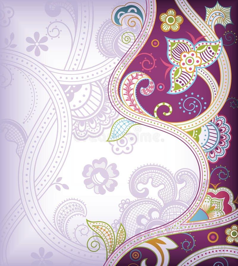 Fond floral de lavande illustration de vecteur