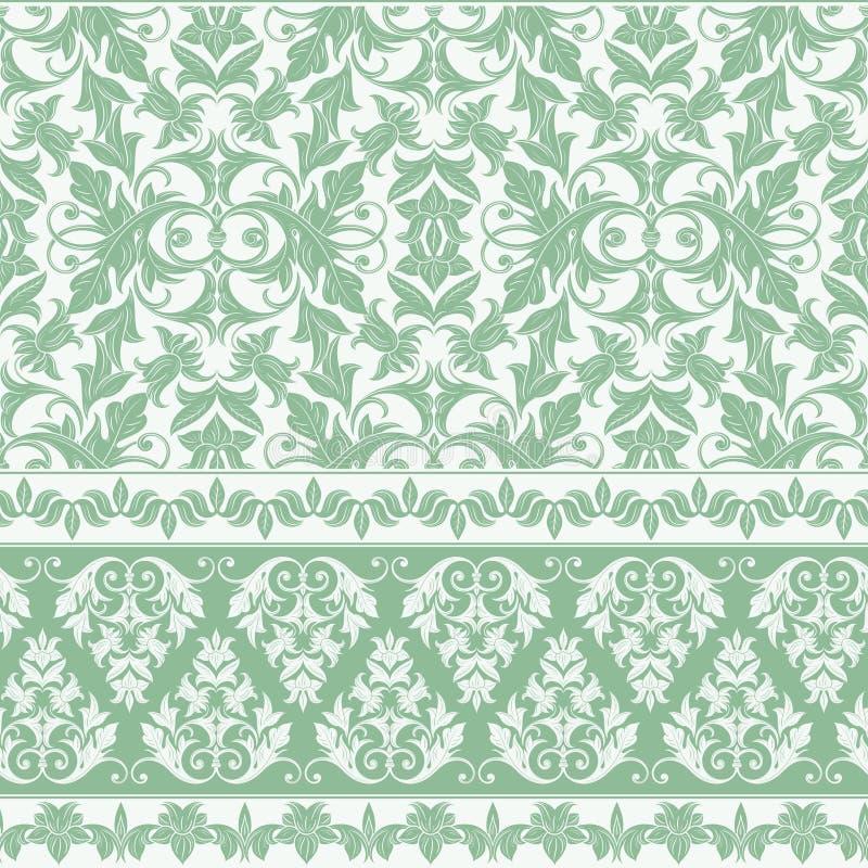 Fond floral de modèle de damassé - décoratif - fleuri - Digital Scrapbooking de papier illustration libre de droits