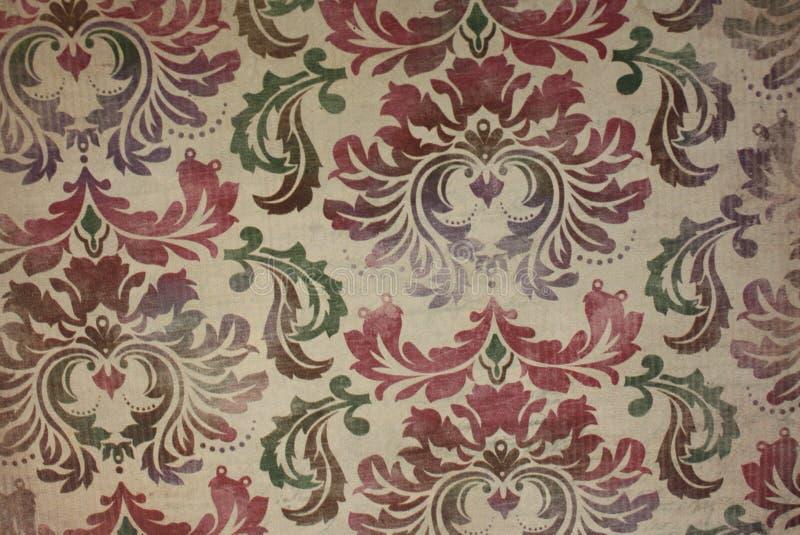 Fond floral de modèle de papier peint de vintage image libre de droits
