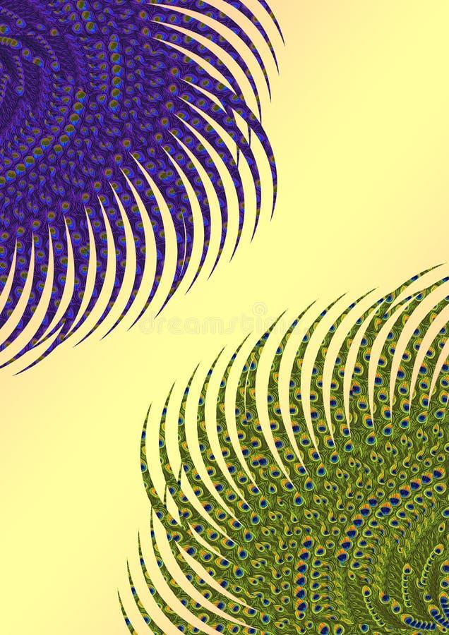 Fond floral de paon illustration stock
