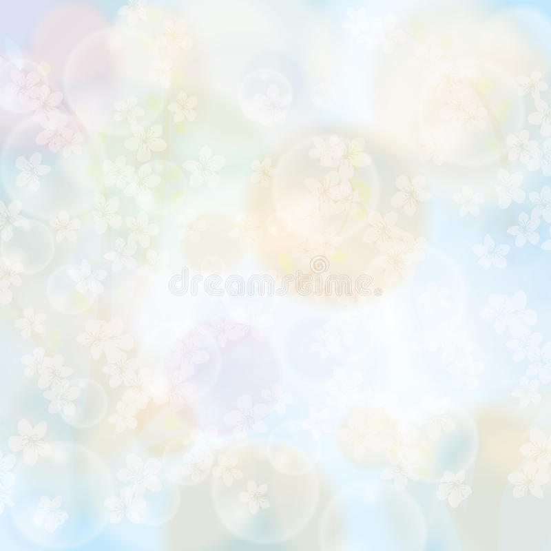 Fond floral de ressort abstrait illustration stock