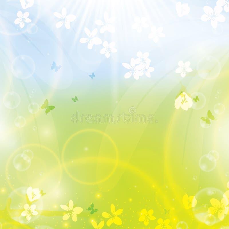 Fond floral de ressort abstrait illustration stock