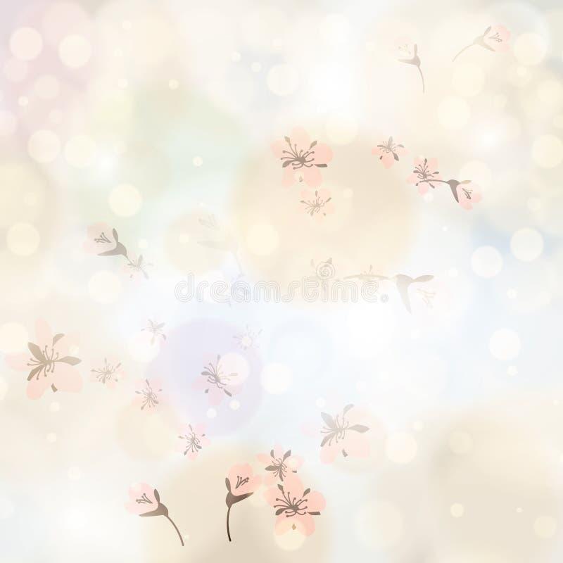 Fond floral de ressort lumineux abstrait illustration de vecteur