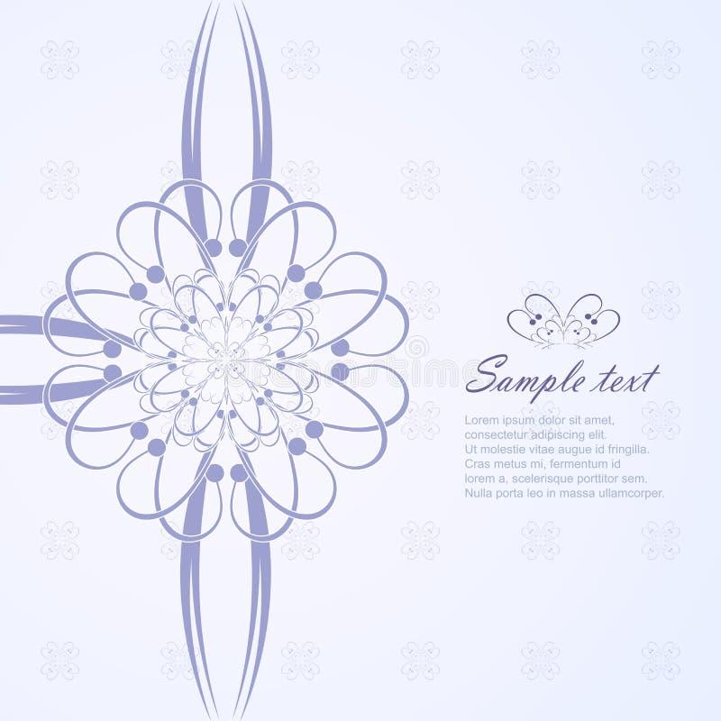 Fond floral de salutation illustration stock