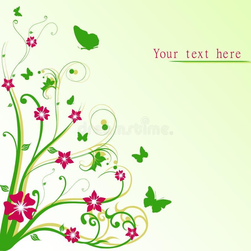 Fond floral de source illustration de vecteur