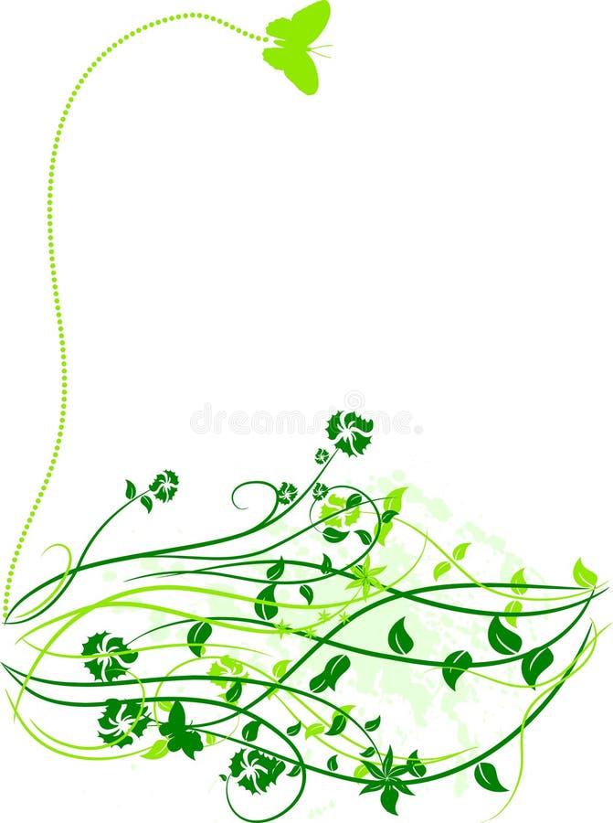 Fond floral de source. illustration de vecteur