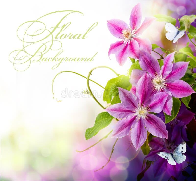Fond floral de source abstraite d'art pour la conception photo stock