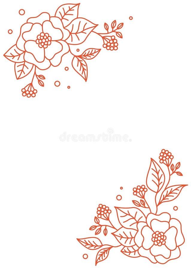 Fond floral de source Carte de conception florale de vecteur Configuration de fleur abstraite Style moderne Floral d?coratif d'?l illustration libre de droits