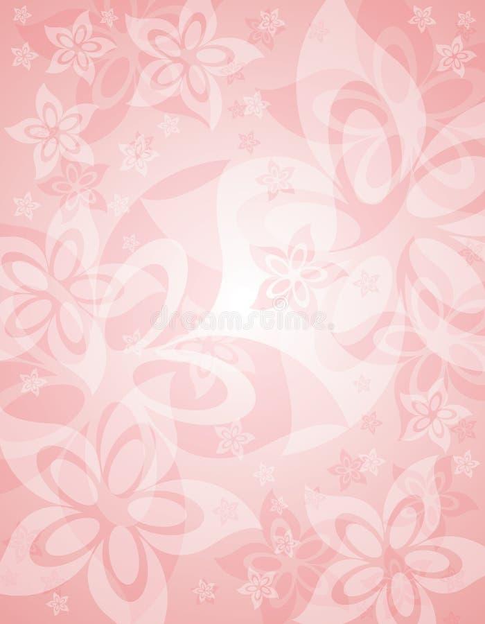 Fond floral de source rose molle illustration de vecteur