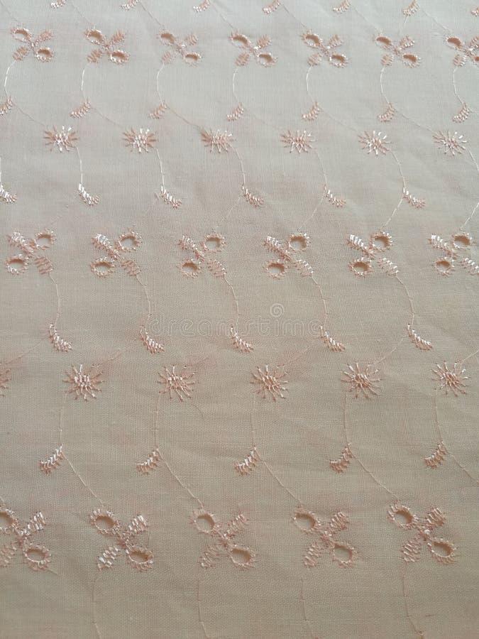 Fond floral de texture de tissu de dentelle de coton image libre de droits