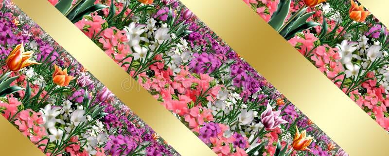 Fond floral de vacances de ressort illustration libre de droits