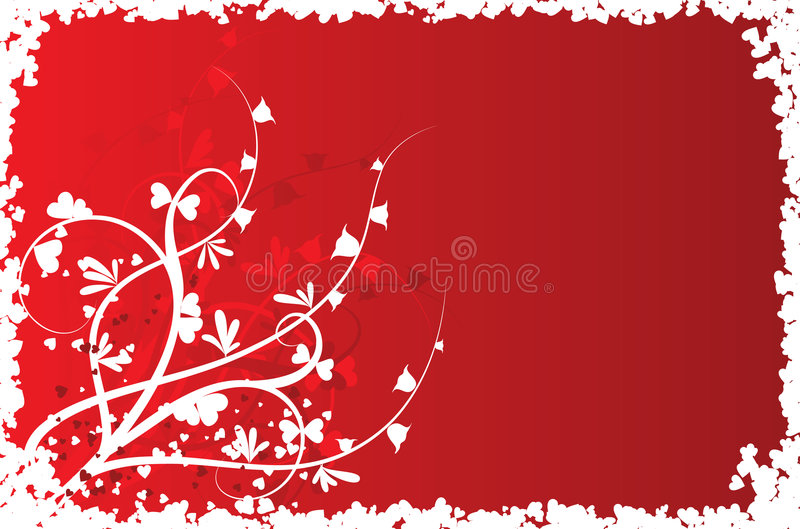 Fond floral de Valentine, vecteur illustration stock