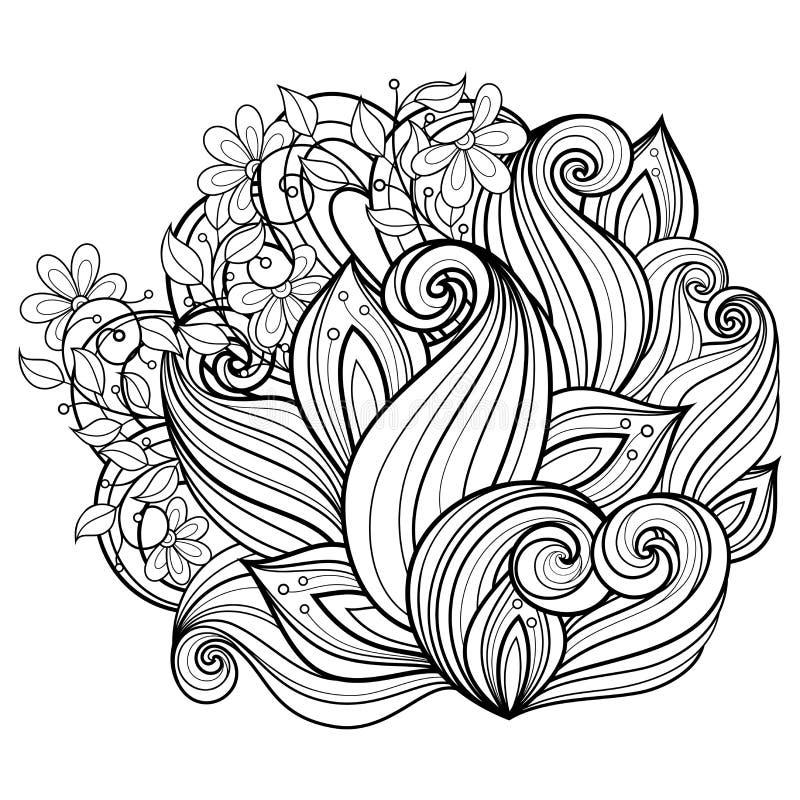 Fond floral de vecteur illustration libre de droits