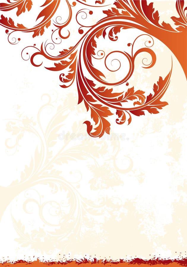 Fond floral de vecteur illustration stock