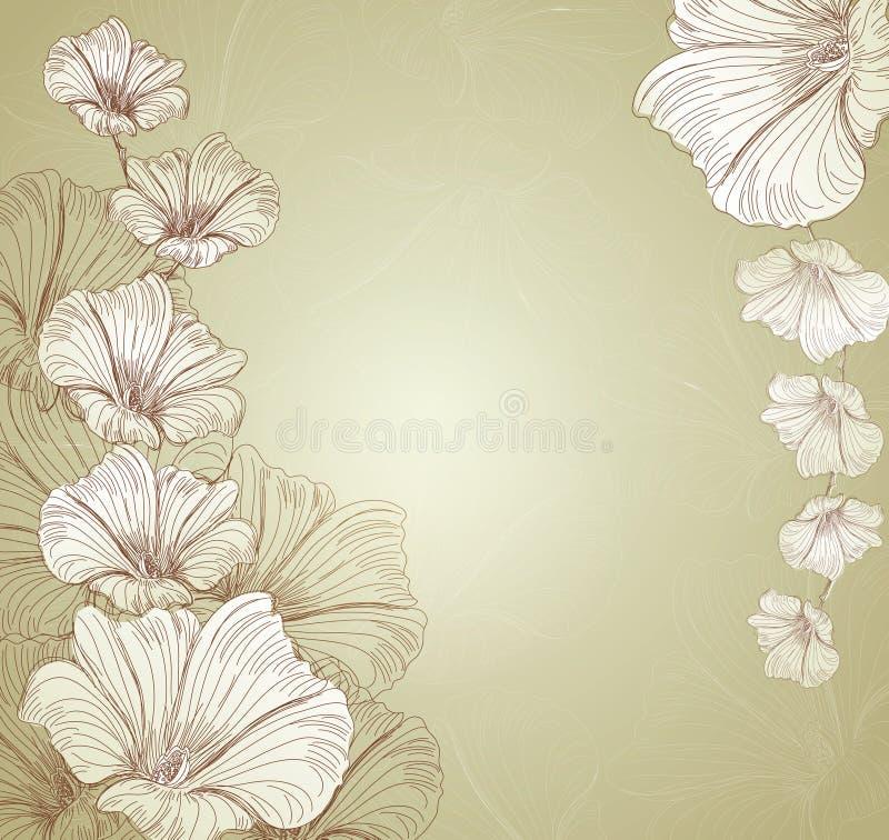 Fond floral de vecteur de félicitations illustration libre de droits