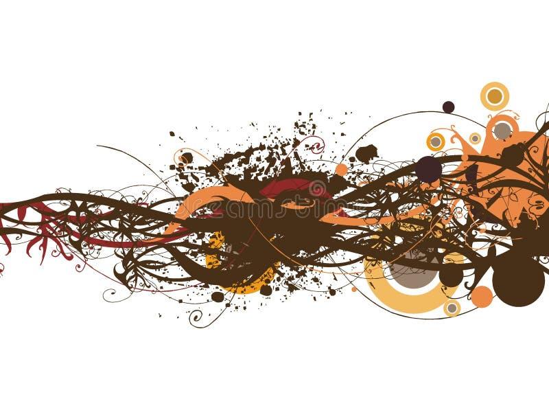 Fond floral et grunge décoratif illustration libre de droits