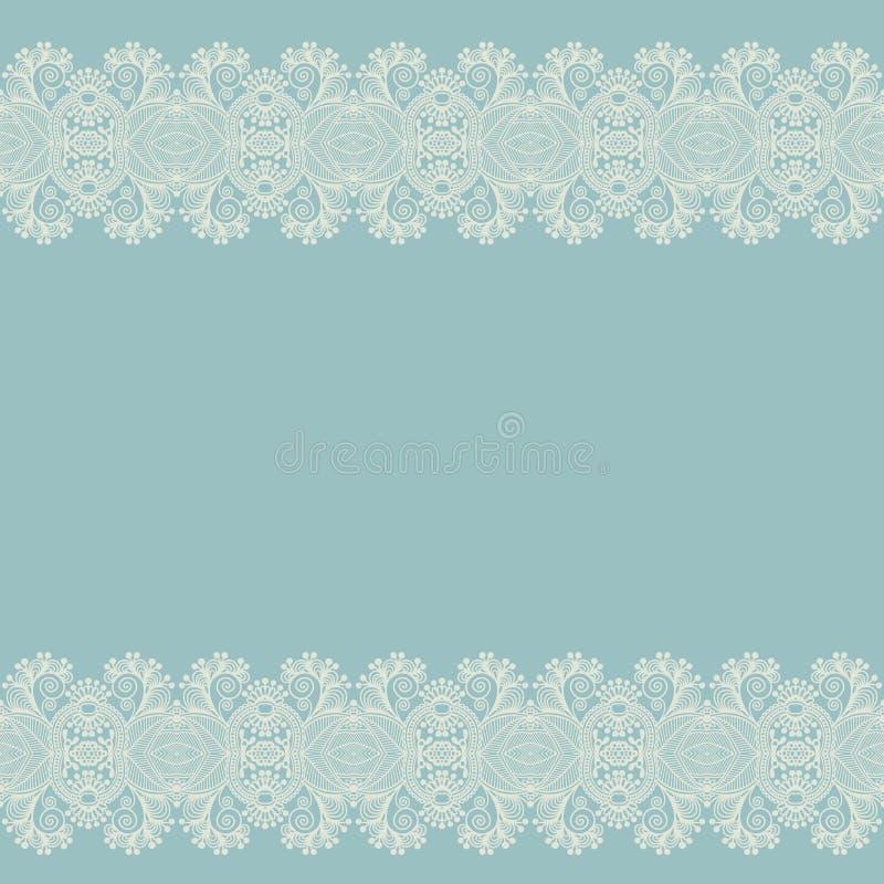 Fond floral fleuri avec la rayure d'ornement illustration libre de droits