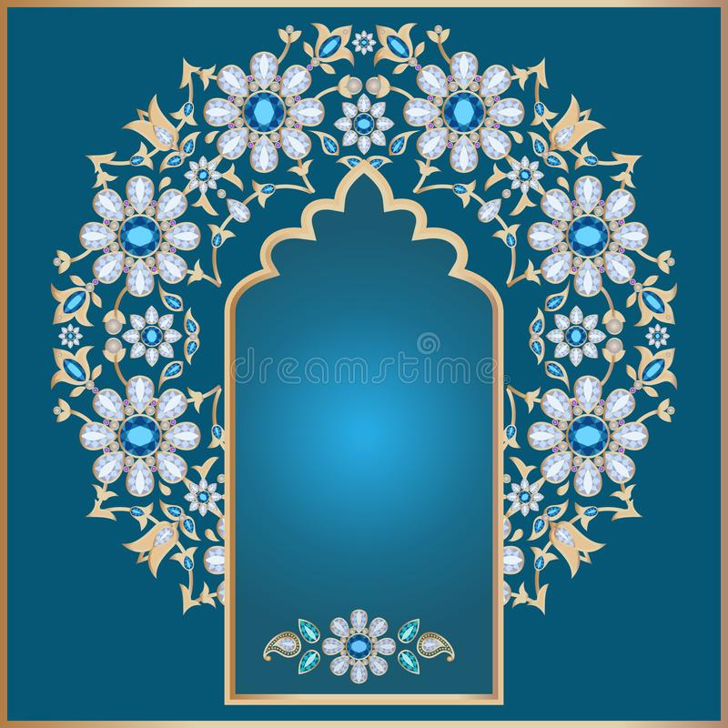 Fond floral fleuri illustration stock