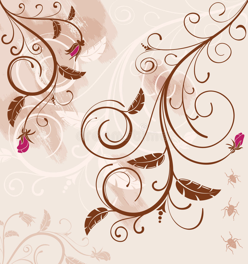 Fond floral grunge illustration libre de droits
