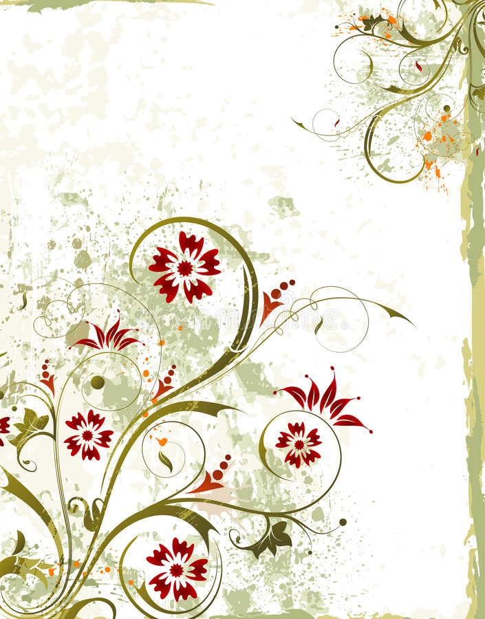 Fond floral grunge illustration stock