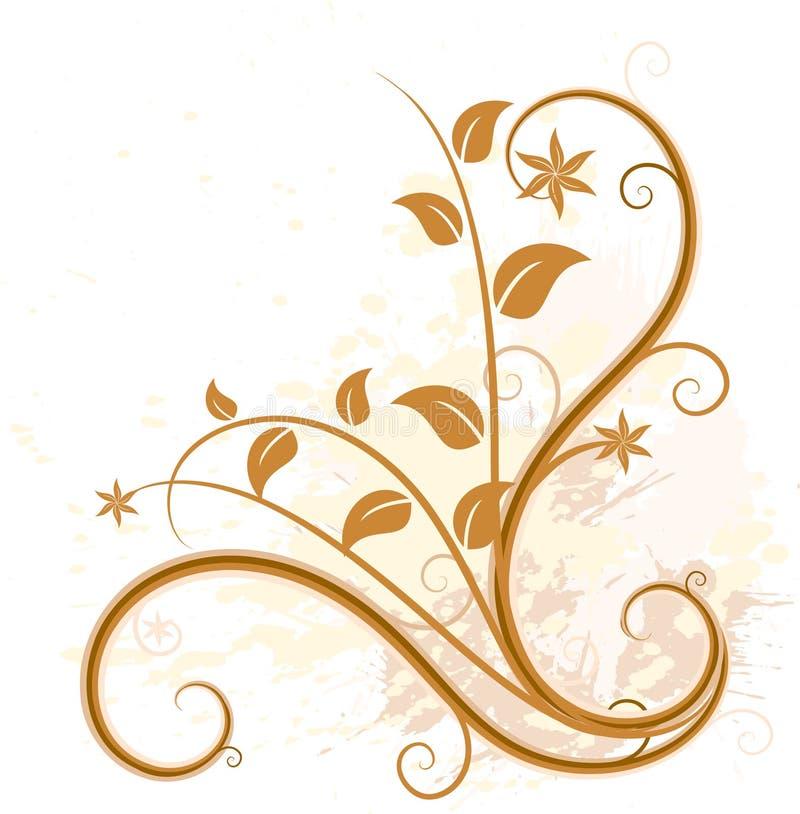 Fond floral grunge. illustration libre de droits