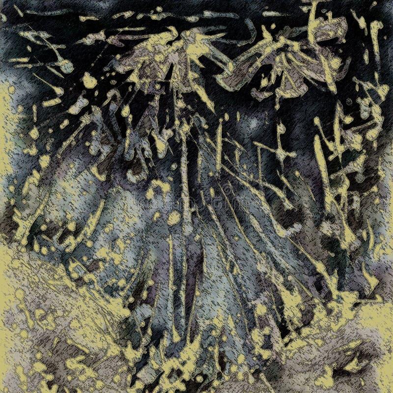 Fond floral grunge d'art illustration de vecteur