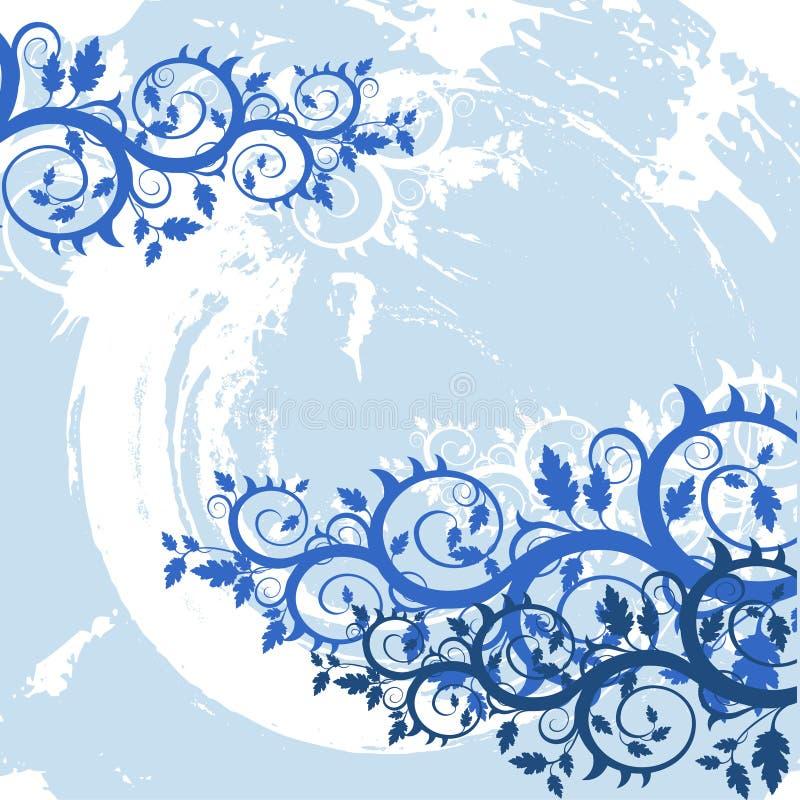 Fond floral grunge de vecteur illustration de vecteur