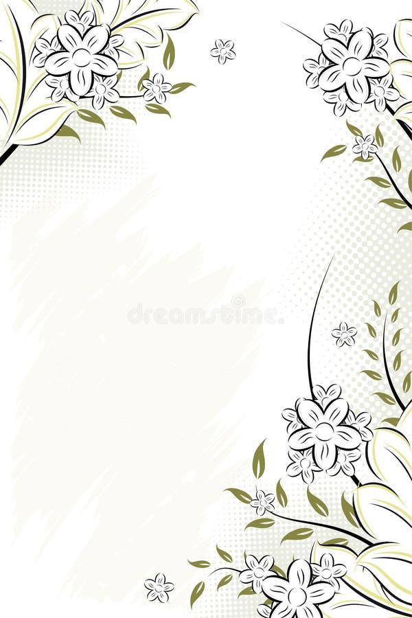 Fond floral grunge de vecteur illustration stock