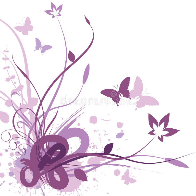 Fond floral, illustration de vecteur illustration libre de droits