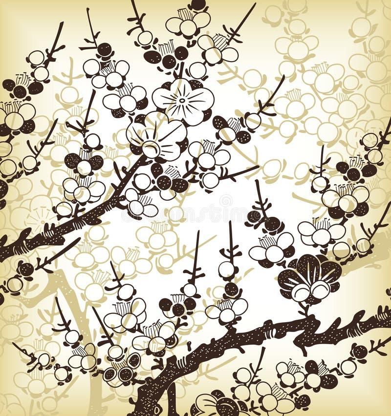 Fond floral japonais illustration libre de droits