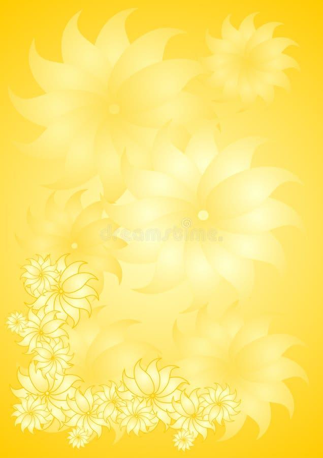 Fond floral jaune illustration stock