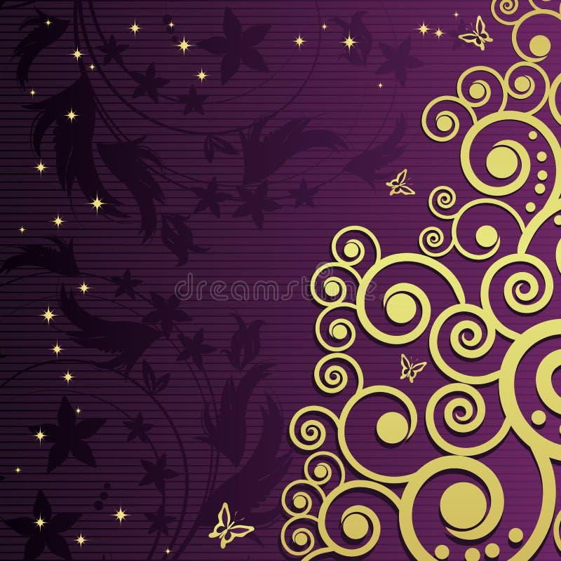 Fond floral magique. illustration stock