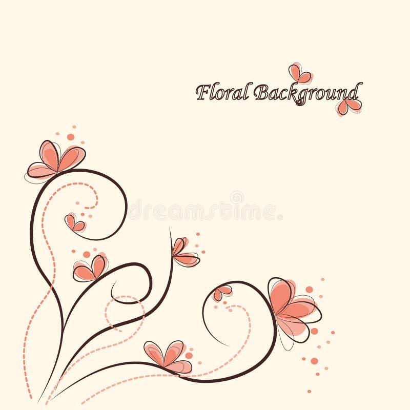 Fond floral mignon photo libre de droits