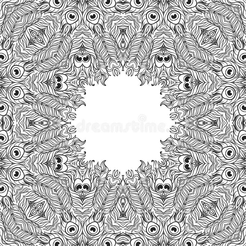 Fond floral monochrome Éléments décoratifs tirés par la main image libre de droits