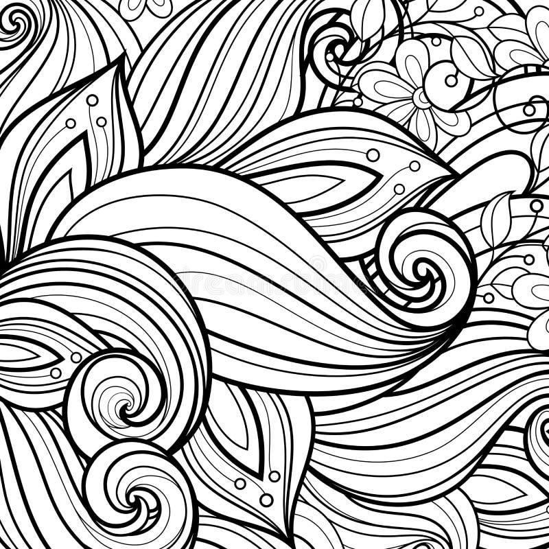Fond floral monochrome de vecteur illustration stock