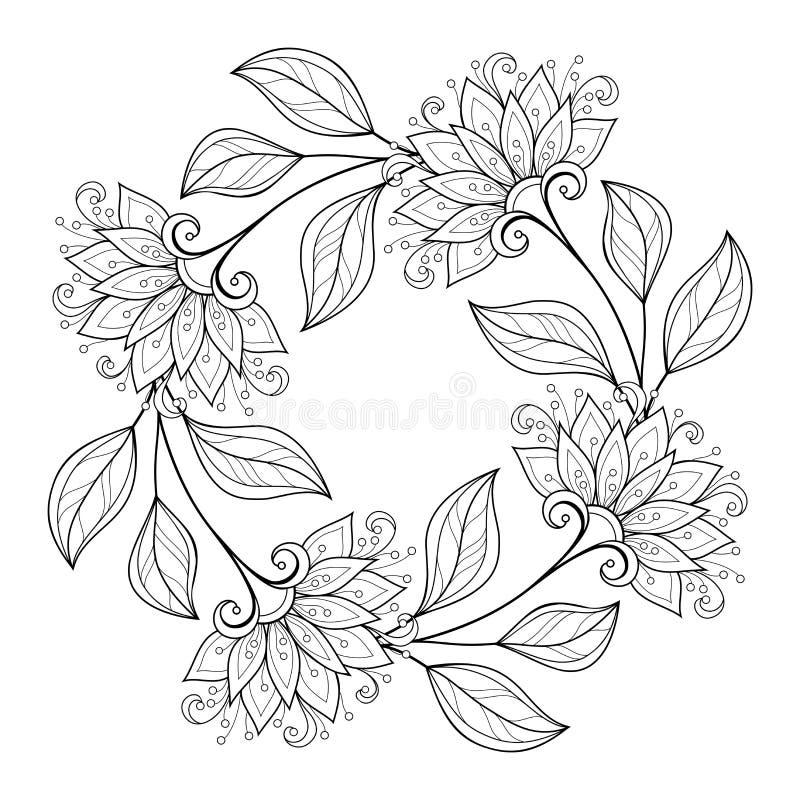 Fond floral monochrome de vecteur illustration de vecteur