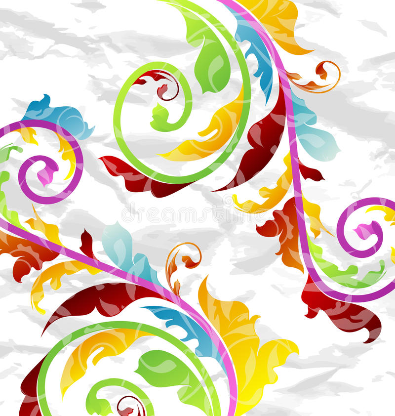 Fond floral multicolore abstrait illustration de vecteur