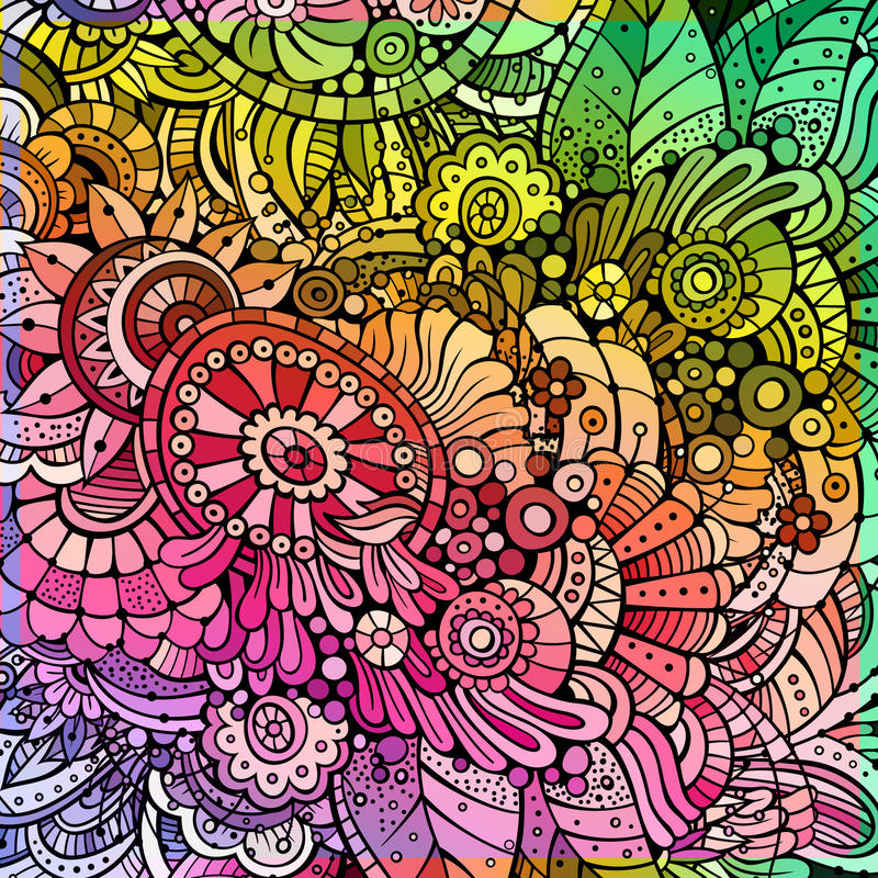 Fond floral multicolore abstrait illustration stock