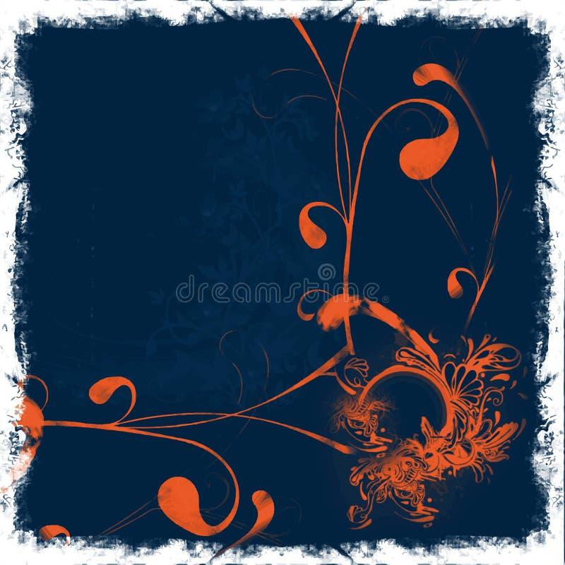 Fond floral orange illustration libre de droits