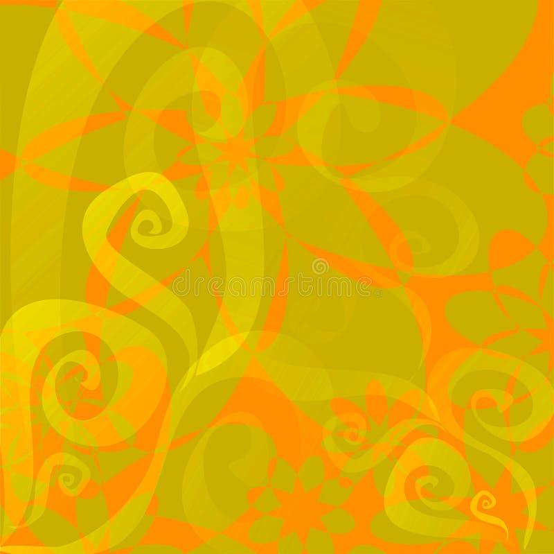 Download Fond Floral (orange - Vert De Limette) Illustration Stock - Illustration du illustrations, fond: 742764