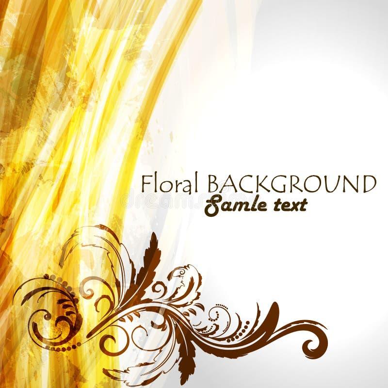 Fond floral ornemental illustration stock