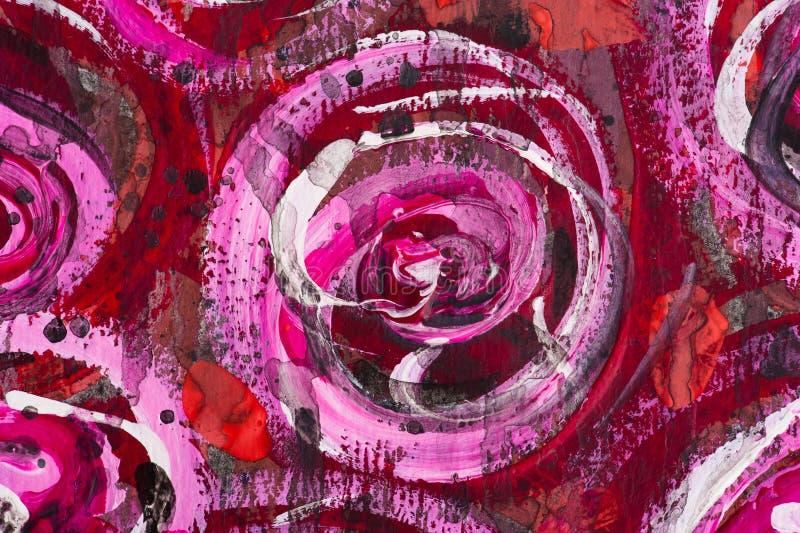 Fond floral peint par aquarelle images libres de droits
