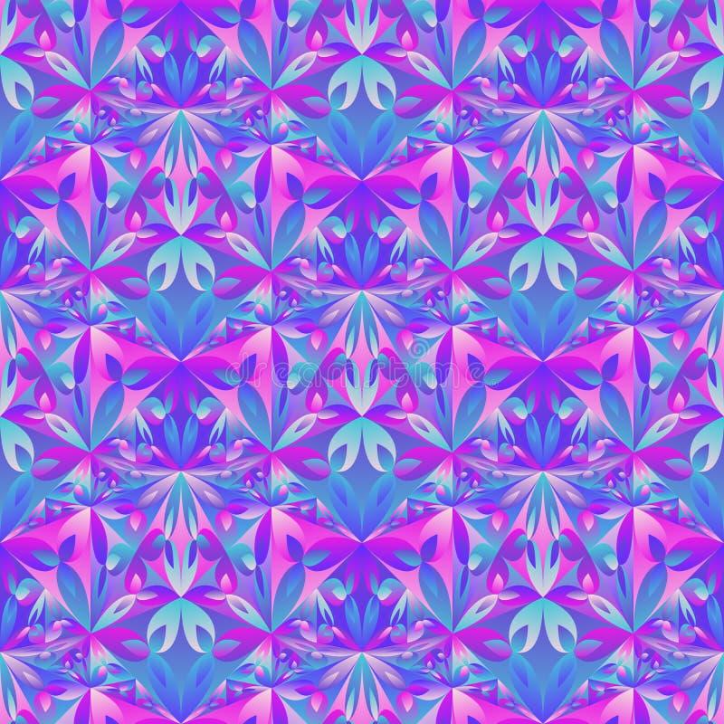 Fond floral polygonal sans couture de modèle de résumé multicolore illustration de vecteur